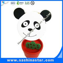 Cute panda animal shape wooden card clip