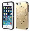 Cool projeto de escudo para o iphone 5s 5 pc + tpu caso híbrido acessório