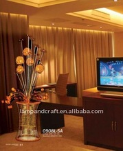 Modern decoration metal lamp/home style bedding set