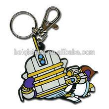 Customized 3d logo soft pvc keychain Wholesale plastic pvc keychains