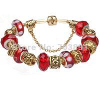 2014 jewelry trends, fashion high quality Murano Glass Beads Charm Beaded Bracelets 2014 jewelry trends