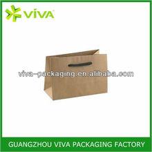 Deluxe Brown Kraft die cut handle paper bag