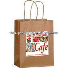 Fruits and vegetables brown paper bag
