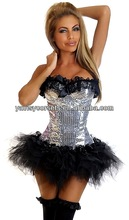 newest cheap slim shiny lingerie for western style sexy gothic corsets cheap