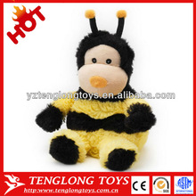 Plush microwavable bee shaped plush toy stuffed grape seeds and wheats for kids