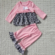 2015wholesale sweet girl organic cotton baby clothing