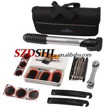Multi-functional Bike Bicycle Tyre Repair Combination Tool Kits With Mini Pump