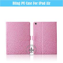 Flash Star Grid Smart Sleep Function PU Leather Pad Case For iPad Air U1703-108