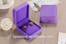 2014 Newest top grade and elegant velour box/ superior purple velvet dangler box in 2014
