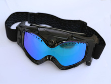 720P Camera Skiing/Moto Goggles, Video & Audio + Photo+ AV out function.