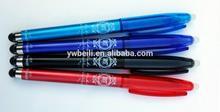 Plastic touch erasable gel ink pen,Erasable pen with stylus,Erasable gel pen with touch