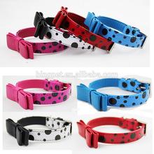 Pet Collars,Polka Dots Fashion Dog Collar,Bling Dog collar