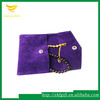 Custom velvet jewelry pouch with button