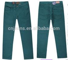 Apparel Slim fit pants Full colored denim trousers brand men jeans pants