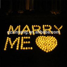 Ventas calientes de la vela de Gel de cera para de cumpleaños decoración de la boda