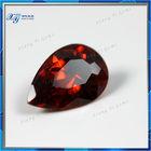 Charming Ceylon Gems stone Wuzhou Garnet CZ Decorative Gems Pear Shaped Rough Gems