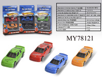 Hot Free Wheel Die Cast Racing Car with 6 Colors Mixed