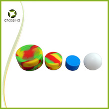 2014 hot selling products in america non stick wax jar silicone ball container with lid