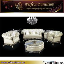 PFS3981 Silver leaf craft wooden furniture model sofa set