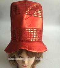 El sombrero de carnaval/adultos de fiesta de carnaval sombrero de copa/carnaval divertido sombreros de color rojo