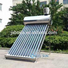 2014 stainless steel evacuated tube solar water heater, evacuated glass tubes solar water heater collector