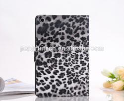 Fashion Leopard Leather flip cover for ipad mini wallet cover slim case for ipad mini