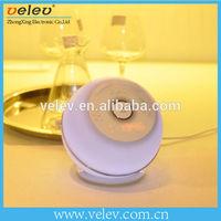 Bedroom Use Bluetooth Stereo Wake Up Speaker LED Lamp with FM Radio