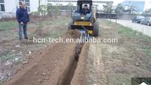 0207 series trencher of mini skid loader for garden farm