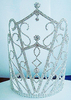 8.75inch Tall Tiara with Side Combs Crystal Rhinestone Crowns