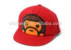 flat bill fancy hats with cartoon logo snapback wholesale 5 panel newsboy cap