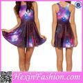 새로운 도착 섹시한 패션 여름 Galaxy 스케이팅 드레스