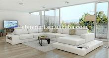 Italian design Large Size U-shaped genuine leather corner Sofa A07