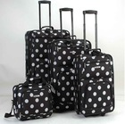 4pcs printed 600D polyester EVA trolley luggage set stock stocklot overstock closeout