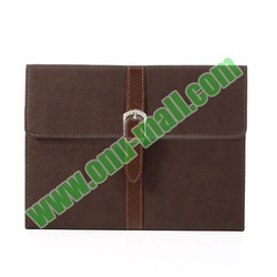 Classical Retro Style Leather Case for iPad Air with Sleep Function