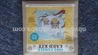 DIY owl cross stitch kit