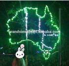 led 2D Australia map xmas motif light for park