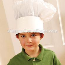 disposable children paper chef hat