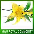 baratos amarela de seda flores artificiais lírio