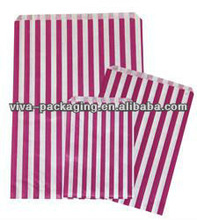 Large Pink Candy Stripe Paper Bag