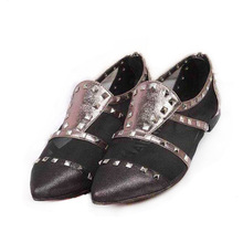 2014 pictures of women flat shoes with nails