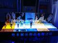 gran exhibición cosmética de acrílico con luz led