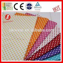 2015 new design blue white polka dot fabric for shirt dress