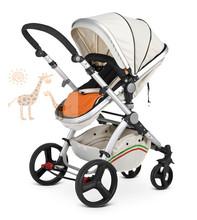 Baby Stroller,Wooden Baby Stroller 3 in1