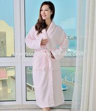 beautiful coral fleece new design extra long woman gown bathrobe