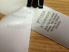 Polyester ribbon label, garment, jumbo rolls, hot melt, low cost