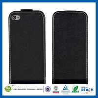 C&T Trendy folder pouch portfolio tan pu leather case for apple iphones 4