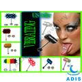 venda quente de aço cirúrgico vibratório língua anel de brinquedo do sexo para mulheres