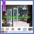 fantasia moderna porta de perfil de alumínio de dobramento porta com vidro temperado fabricados na china