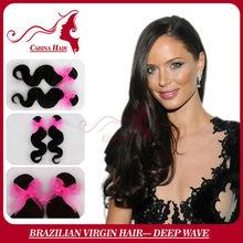 Carina Hair Products 5A Grade Top Quality 100% Virgin Classic Virgin Remy Brazilian Hair Weaving