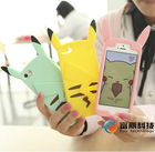 New Silicone Animal Phone Cover 3D Cute Pikachu Case for iphone 5 5s iphone4